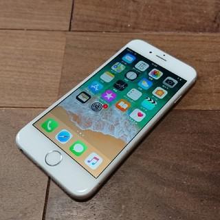 アイフォーン(iPhone)の完動品iPhone6本体64GBシルバーDOCOMO白ロム判定〇送料込(スマートフォン本体)