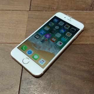 アイフォーン(iPhone)の完動品液晶無傷iPhone6本体64GBゴールドSoftBank白ロム判定〇(スマートフォン本体)