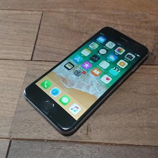 アイフォーン(iPhone)の完動品iPhone6本体64GBグレイau白ロム判定〇送料込(スマートフォン本体)
