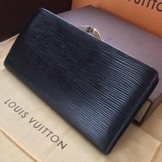 ルイヴィトン(LOUIS VUITTON)の正規品ルイヴィトンガマ口財布エピブラック(財布)