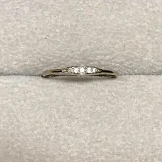 アッシュペーフランス(H.P.FRANCE)のダイヤモンド シンプルなリング  K18WG(リング(指輪))