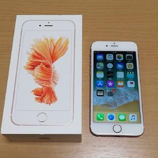 アイフォーン(iPhone)の【バッテリー新品】SIMフリー☆iPhone6s 64GB ローズ(スマートフォン本体)