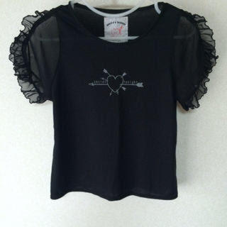 メリージェニー(merry jenny)のmerry  jenny♡キューピッドシフォンフリルTシャツ(Tシャツ(半袖/袖なし))
