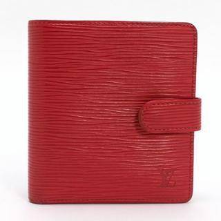 ルイヴィトン(LOUIS VUITTON)のルイヴィトン エピ 二つ折り財布 ポルト ビエ コンパクト 赤(財布)