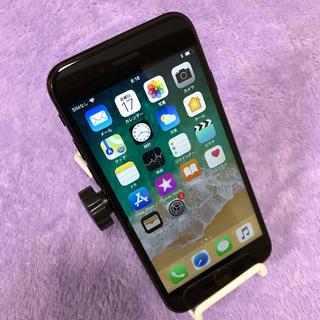 アイフォーン(iPhone)のジャンクiPhone 7 Jet Black 128 GB au送料無料(スマートフォン本体)