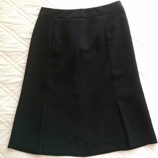 スーツカンパニー(THE SUIT COMPANY)のスーツカンパニー黒スリットスカート(ひざ丈スカート)