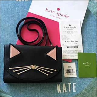 ケイトスペードニューヨーク(kate spade new york)のケイトスペード   新品未使用 ショルダーウォレット  猫 ネコ 財布(ショルダーバッグ)