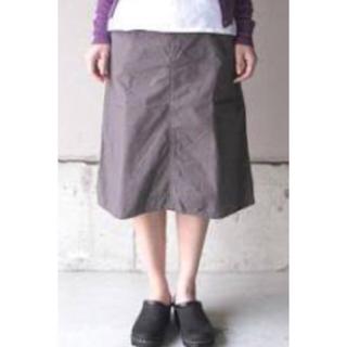 n100 コットンポプリンアーミースカート(ひざ丈スカート)