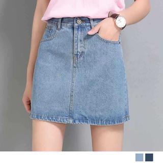 『激安販売』デニムスカート Aラインスカート 台形スカート ミニスカート(ミニスカート)
