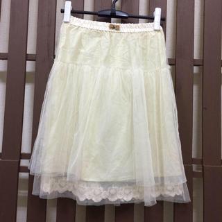 ダブルクローゼット(w closet)のチュールスカート(ひざ丈スカート)