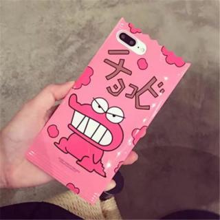iPhone6Plus 6プラス*クレヨンしんちゃん*ピンク(iPhoneケース)
