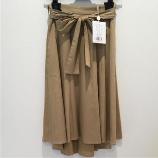 ジャスグリッティー(JUSGLITTY)の新品 バックテールフレアスカート(ひざ丈スカート)