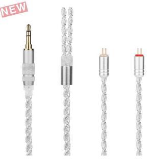 YYX4729 2pin ケーブル 4芯 銀メッキアップグ(ヘッドフォン/イヤフォン)