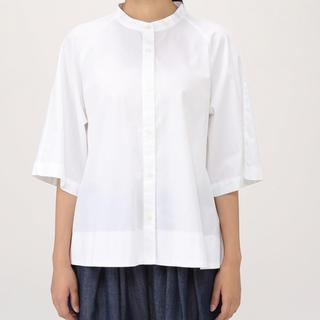 MUJI (無印良品) - 今季 無印良品muji オーガニックコットン洗いざらしスタンドカラーシャツM~L