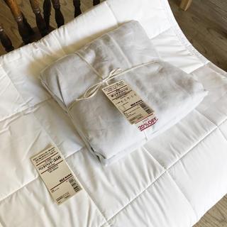 MUJI (無印良品) - 無印良品 ベッドパッド・ボックスシーツセット セミダブル SD