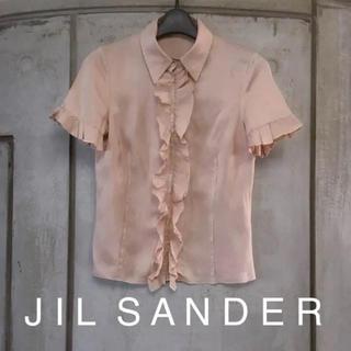 ジルサンダー(Jil Sander)の美品* ジルサンダー シルク100%ブラウス(シャツ/ブラウス(半袖/袖なし))