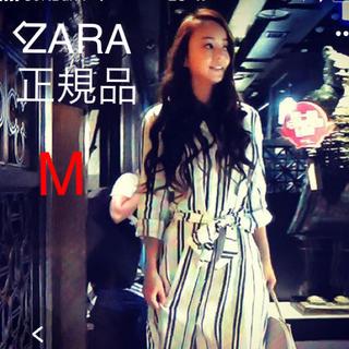 ザラ(ZARA)のZARA 安室奈美恵着用ストライプロングチュニック(ロングワンピース/マキシワンピース)