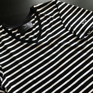 ダブルジェーケー(wjk)のwjk 半袖ボーダーTシャツ S (Tシャツ/カットソー(半袖/袖なし))