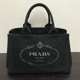 65b162087a51 プラダ(PRADA)のプラダ カナパ トートバッグ 黒 Mサイズ キャンバス(トートバッグ