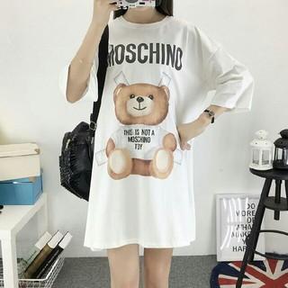 モスキーノ(MOSCHINO)のMOSCHINO Tシャツ ワンピース モスキーノ ホワイト クマちゃん  半袖(Tシャツ(半袖/袖なし))