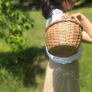 柳かご ワンハンドルバスケット 手さげかご オーバル 可愛いかご 花かご