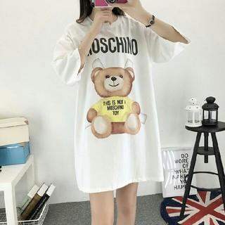 モスキーノ(MOSCHINO)のMOSCHINO Tシャツ ワンピース モスキーノ イエロー クマちゃん  半袖(ミニワンピース)