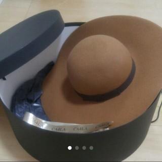 未使用品 CA4LA 女優帽 箱付き
