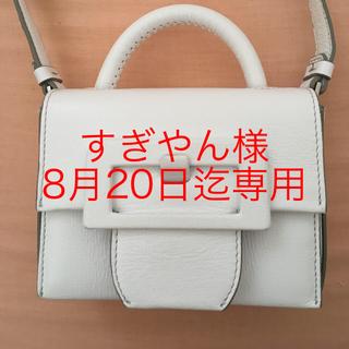 マルタンマルジェラ(Maison Martin Margiela)の試着のみの美品 マルタンマルジェラ  ミニバックルバッグ  白 ショルダー (ショルダーバッグ)