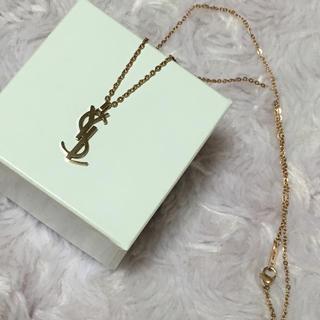 美品 YSL ピンクゴールド ネックレス k14刻印(ネックレス)