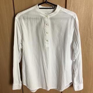 MUJI (無印良品) - 無印 ノーカラー綿シャツ