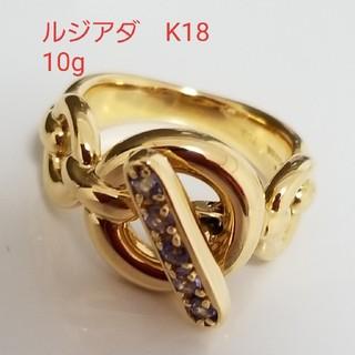 アッシュペーフランス(H.P.FRANCE)のルジアダ リング タンザナイト K18  ゴールド 10g マリハ アガット(リング(指輪))
