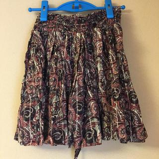 アンスクウィーキー(UNSQUEAKY)のUNSQUEAKY リボンつきラメフレアスカート(ミニスカート)