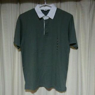 MUJI (無印良品) - 良品計画 半袖ポロシャツ Mサイズ 無印良品 シンプル 古着 服 緑 白 古着