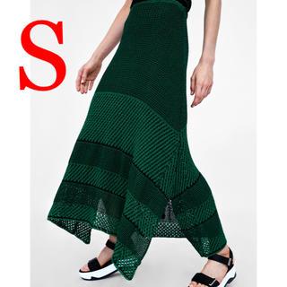 ザラ(ZARA)のお値下げ不可の売り切り商品‼️ ZARA 新品 ニットスカート(ロングスカート)
