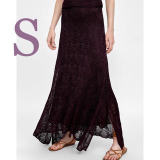 ザラ(ZARA)の大人の色気を醸し出す❗️ZARA 新品 ニットスカート(ロングスカート)