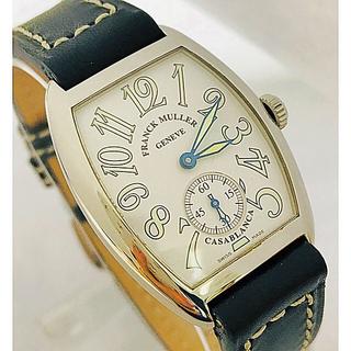 フランクミュラー(FRANCK MULLER)のOH済 正規品フランクミュラー  カサブランカ 7502S6手巻ボーイズ白文字盤(腕時計(アナログ))