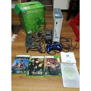 エックスボックス360(Xbox360)の値下げ要相談◆XBOX360本体+HDD120G+HORI有線+ソフト3本(家庭用ゲーム本体)