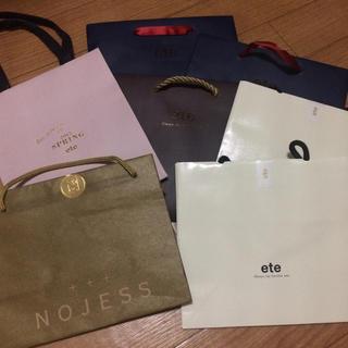 エテ(ete)のete NOJESS ショッパーまとめ売り(ショップ袋)