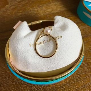 ツモリチサト(TSUMORI CHISATO)の【新品・未使用】ツモリチサト K10 パール ネコ リング(リング(指輪))
