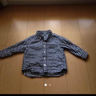 MUJI (無印良品) - 無印良品 ネルシャツ チェック サイズ80 美品
