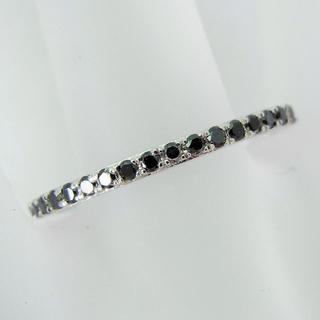 ホワイトゴールド ブラックダイヤモンド リング 15号 [f221-9](リング(指輪))