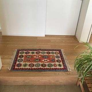 アクタス(ACTUS)のイラン製オールドキリム  玄関マット /ペルシャ 絨毯 ラグ 無印 アクタス(玄関マット)
