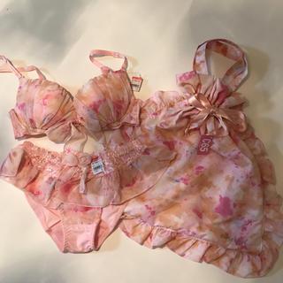 エメフィール(aimer feel)のエメフィール C65 M 巾着付き(ブラ&ショーツセット)