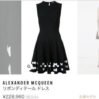 アレキサンダーマックイーン(Alexander McQueen)のアレキサンダーマックイーン ワンピ ドレス(ミニワンピース)