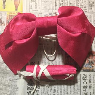 つくり帯 ピンク 桜柄 作り帯 浴衣(浴衣帯)