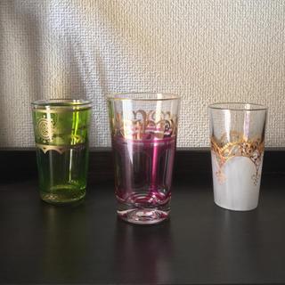 アメリカンラグシー(AMERICAN RAG CIE)のモロッコグラス 3個セット ミントティー モロッコ雑貨 (グラス/カップ)