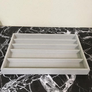 MUJI (無印良品) - 無印良品 アクリルケース用ベロア内箱仕切 大 ネックレス収納 グレー