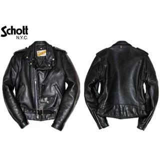 ショット(schott)のSchottショットPerfectoレザーダブルライダースジャケット34ブラック(ライダースジャケット)