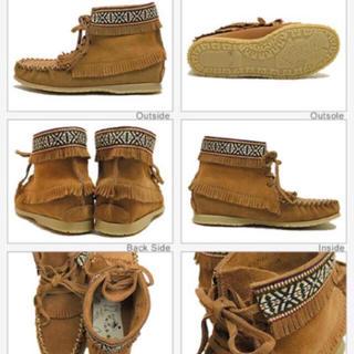 アミモック(AMIMOC)のフリンジショートブーツ(ブーツ)