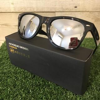 新品 偏光サングラス ミラーレンズ ウェリントン UV400(その他)